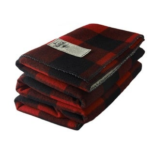 Woolrich Sherpa Rough Rider Red Throw