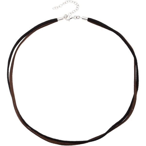 Kele & Co Black/ Brown Suede Cord with .925 Sterling Silver