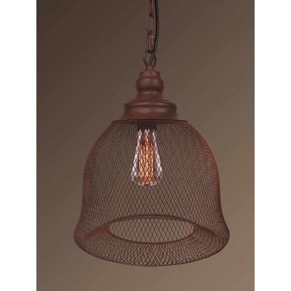 Hazel 1-light Rusty Steel Edison Pendant