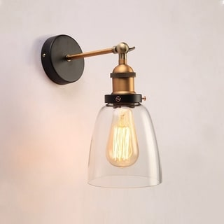 Barbara 1-light Clear Glass Edison Wall Lamp