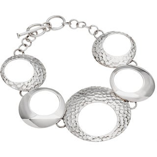 Kele & Co .925 Sterling Silver Multi Circle Bracelet