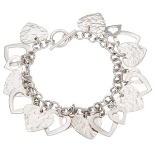 Kele & Co .925 Sterling Silver 'Surrounded By Love' Bracelet