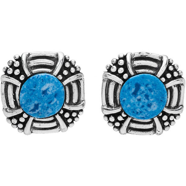 Kele & Co Dalmata Stone Stud Earrings