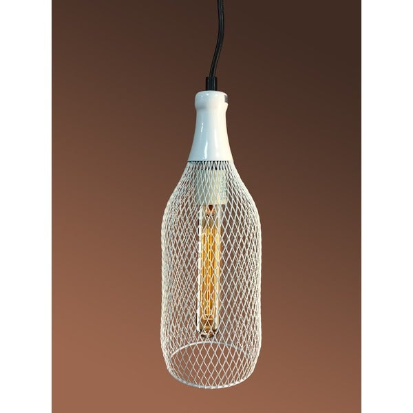 Meryl 1-light Adjustable Height White Edison Pendant