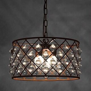 Hattie 3-light Rusty Steel 16-inch Edison Chandelier