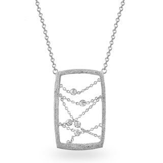 Metal Crystal Dream Catcher-inspired Rectangle Necklace