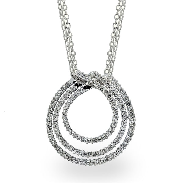 Silvertone Crystal Rings of the Galaxy Necklace