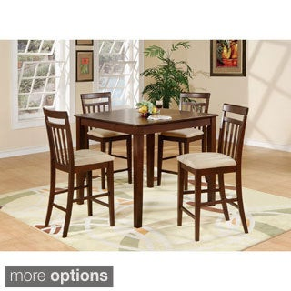 5-piece Counter Height Table Set-Square Counter Height Table and 4 Stools