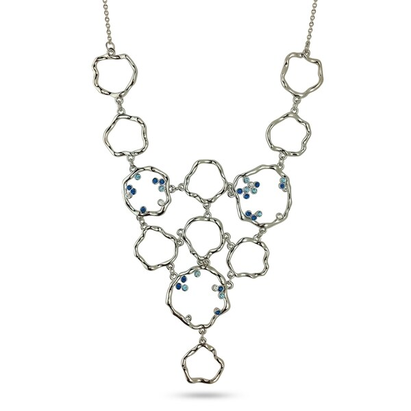 Metal Bubbles Bib Crystal Necklace