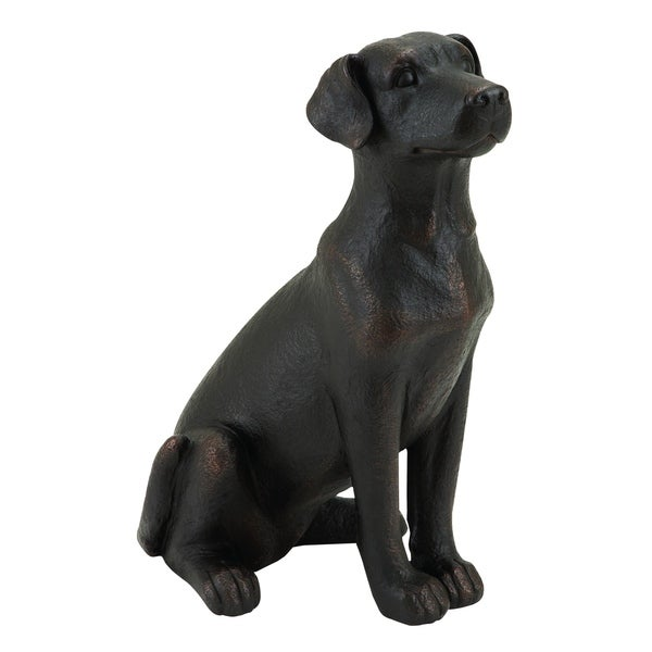 Retriver Dog Sitting Sculpture