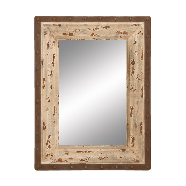 Antique Ecru Wall Mirror