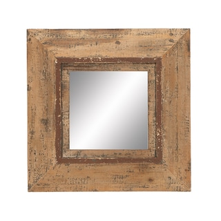 Beveled Frame Square Wall Mirror