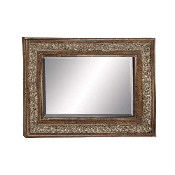 Beveled Edge Embossed Wall Mirror