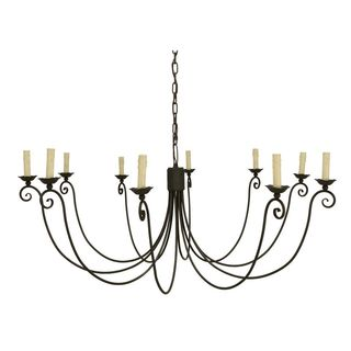 10-light Weathered Chandelier