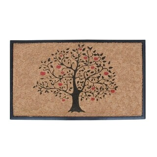 "Rubber and Coir Large Size Double Doormat with Tree Design (30"" x 48"")"
