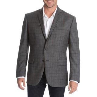 Daniel Hechter Men's Charcoal Fancy Wool Sport Coat