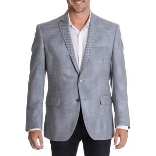 Daniel Hechter Men's Light Blue Fancy Wool Sport Coat