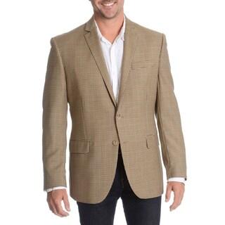Daniel Hechter Men's Brown Fancy Wool Sport Coat