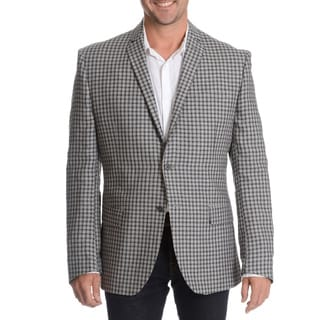 Daniel Hechter Men's Grey Linen Sport Coat