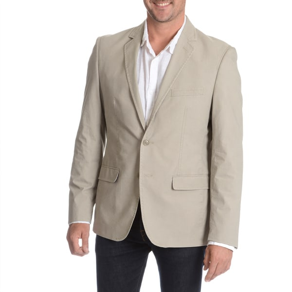 Daniel Hechter Men's Sand Garment Wash Sport Coat 52L in Sand (As Is Item)