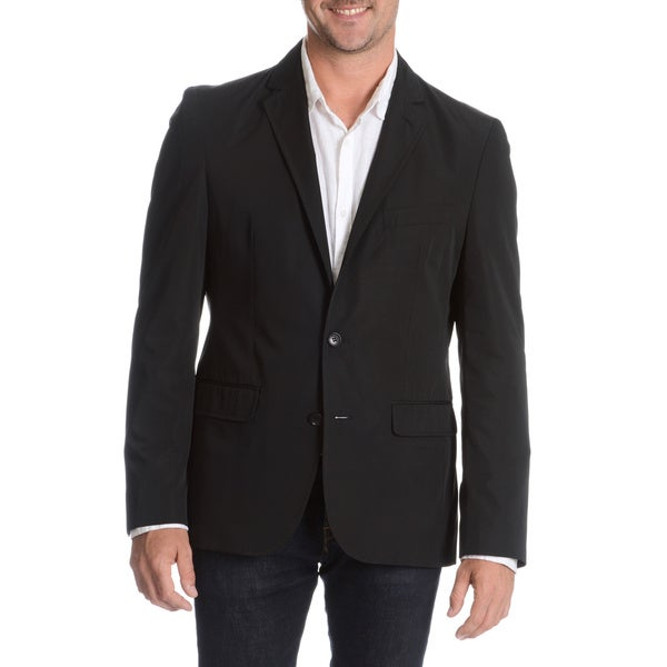 Daniel Hechter Men's Black Packable Jacket with Bag