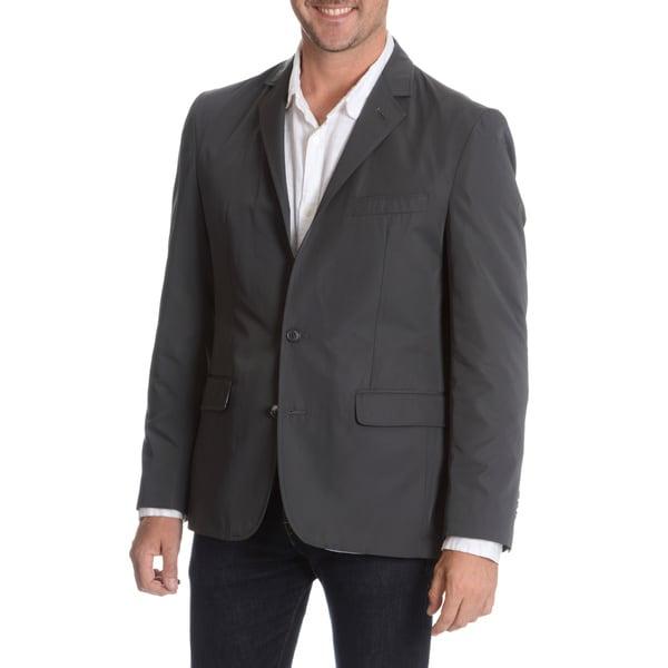 Daniel Hechter Men's Charcoal Packable Jacket with Bag