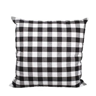 Black Buffalo Check Down Alternative Filled 18-inch Throw Pillow