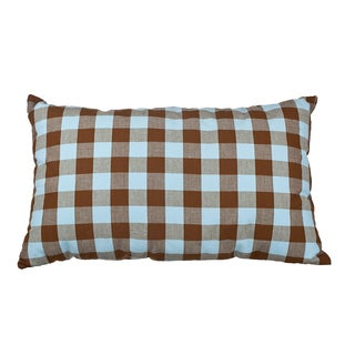 20-inch Brown/Blue Down Alternative Filled Throw Pillow