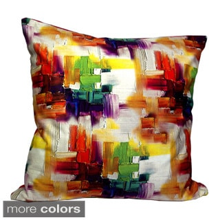 Mirasol Cubism Pinting 20-inch Square Throw Pillow (Set of 2)