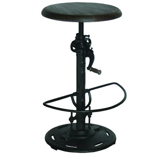 Yosemite Home Decor Black Adjustable Height Bar Stool