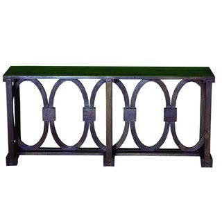 Yosemite Home Decor Black Console Table