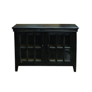 Yosemite Home Decor Black Display Cabinet