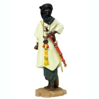 Alabaster Tuareq Warrior Statue (China)