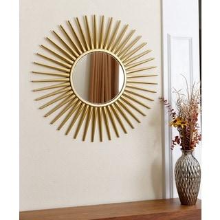 Abbyson Living Alexia Round Gold Wall Mirror