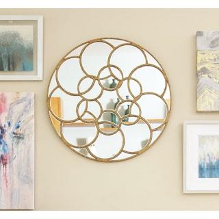 Abbyson Living Dahlia Round Wall Mirror