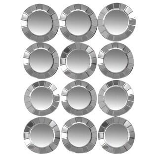 ABBYSON LIVING Ergo 12 Circle Rectangle Wall Mirror