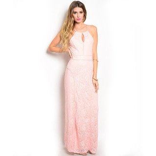 Shop the Trends Women's Spaghetti Strap Maxi Dress with Keyhole Opening and Open Back