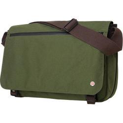 Token Whitehall Large Olive Laptop Flapover Messenger Bag