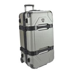Traveler's Choice Maxporter Silver 28-inch Hardside Rolling Upright Duffel/Suitcase