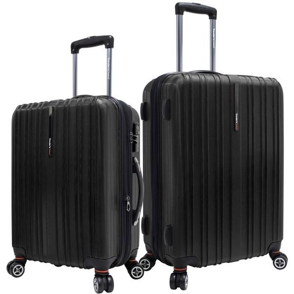 Traveler's Choice Tasmania 2 Piece Spinner Luggage Black