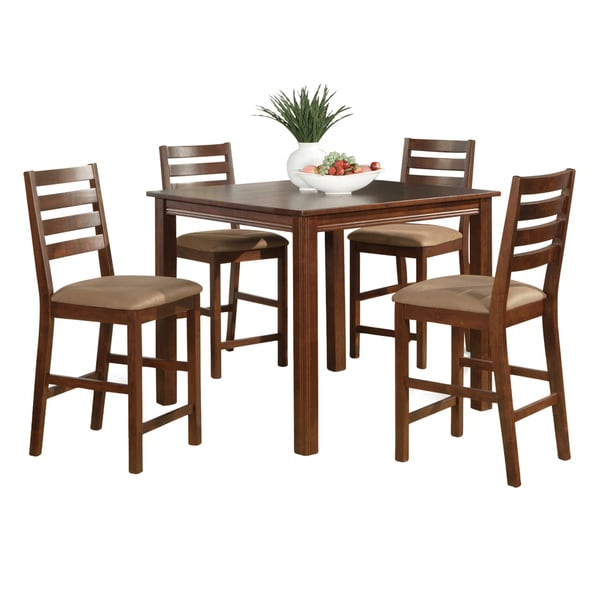 Counter Height Gathering Table Sets : piece Gathering Table Set-Counter Height Square Table, 4 Chairs ...
