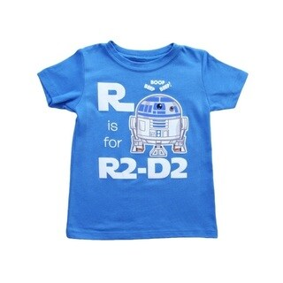 R Is For R2-D2 Star Wars Toddler T-Shirt Romper Baby Infant Droid R2D2 Blue