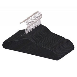 Home Basics Black Flocked Suit Hangers (Pack of 25)