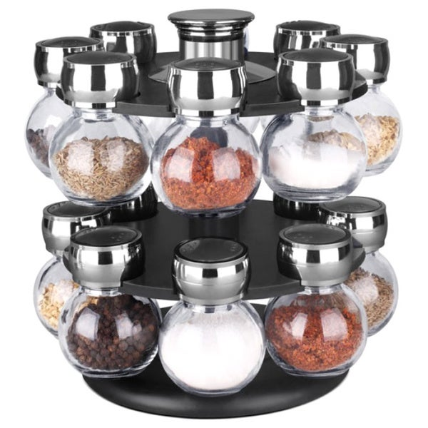 Home Basics 16-piece Revolving Spice Rack