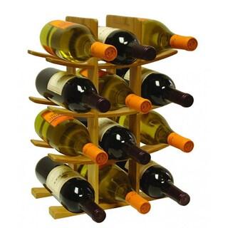 Home Basics Bamboo 12-bottle Wine Rack