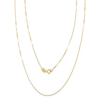 14k Yellow Gold Box Chain Necklace