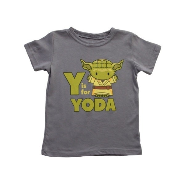Y Is For Yoda Star Wars Toddler T-Shirt Romper Baby Infant Grey Yoda Jedi