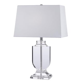 Crystal Urn White Shade Table Lamp