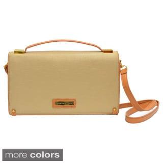 Adrienne Vittadini Saffiano Crossbody Clutch Bag