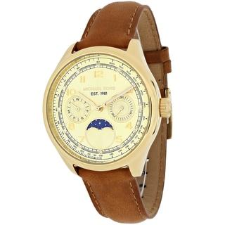 Michael Kors Women's MK2393 Amelia Round Brown Leather Strap Watch
